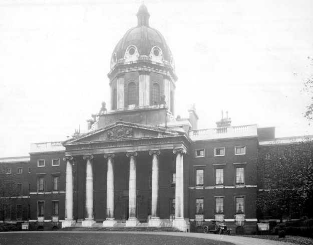 Southwark facade of Bethlem Royal Hospital. Now the Imperial War Museum, London