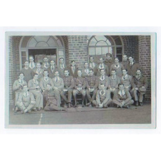 Patients out side the hospital at Moss Side, Maghull, WW1