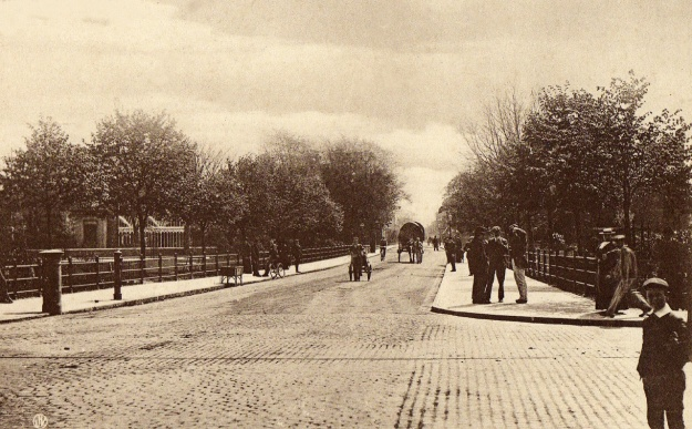 Mill Road, Cambridge, heading towards the railway and river, near location of the first psychology lab in the UK - ran by Dr William H R Rivers