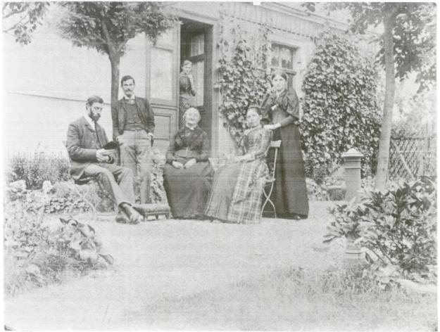 Charles, William, unknown seated woman, Katharine Rivers in Jena