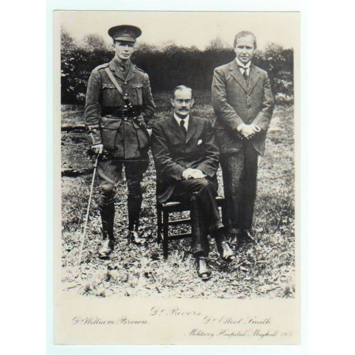 W. Brown, Rivers (seated) and G Elliot-Smith at Maghull, 1915