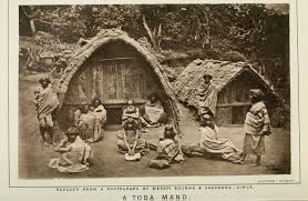 Toda huts, from Rivers' 'The Todas', 1906